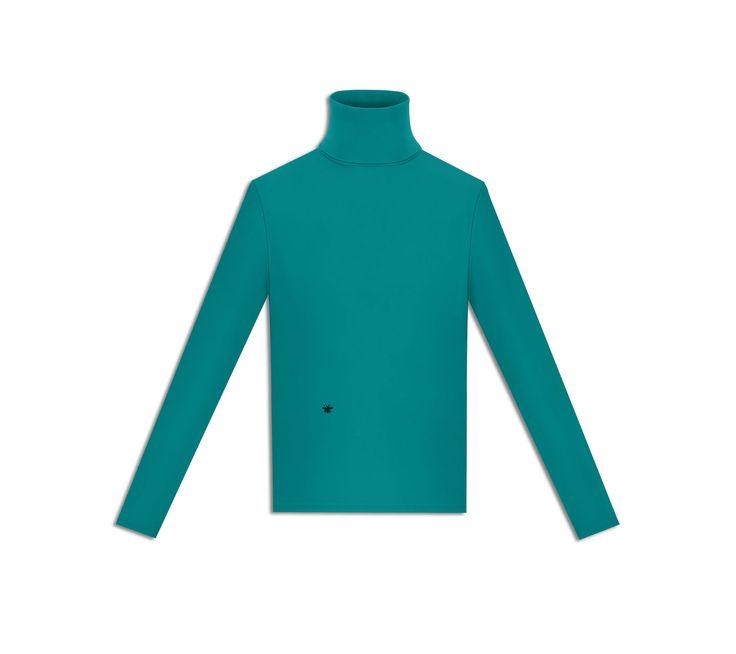 """Broderie """"abeille"""", jersey technique vert - Dior"""