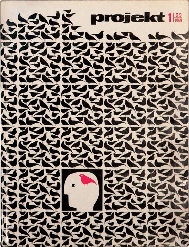 Hubert Hilscher, cover of Projekt No.1, 1969. Poland. Via Unit Editions /flickr.