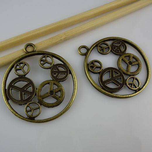 ( 60 piece/lot ) сплав мир во всем мире войдите кулон Fit 3 мм горный хрусталь античный стиль бронза тон ювелирные изделия поиск