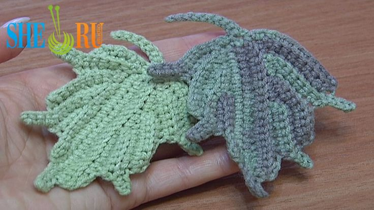 Crochet Leaf How to We invite you to visit https://www.sheruknitting.com/ There are over 800 video tutorials of crochet and knitting in different techniques. Also, you can see unique authors' design in these tutorials only on a website at https://www.sheruknitting.com/  Enjoy all you get from a membership: - No advertising on all tutorials; - Valuable in different devices; - Step by step and detailed video tutorials; - New courses added every week