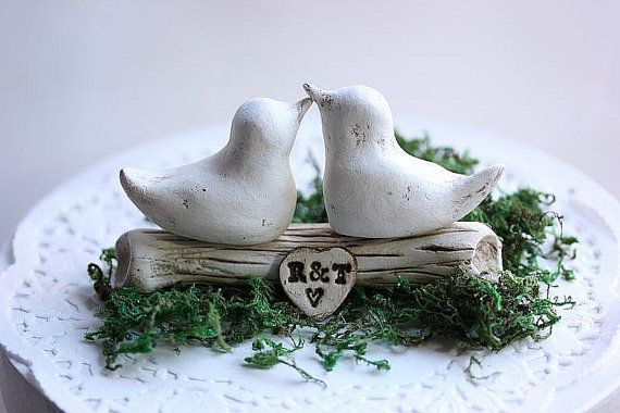 Bird+Wedding+Cake+Topper+++Clay+Birds+Cake+by+strawberriesandcream