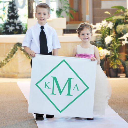 Diamond Monogram Custom Wedding Banner by Beau-coup