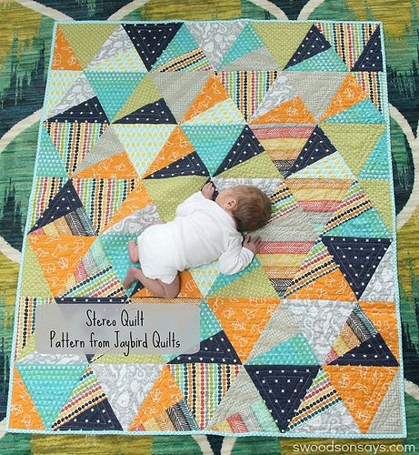 Want this quilt for new baby. Uses moda layer cake/10 inch squares.