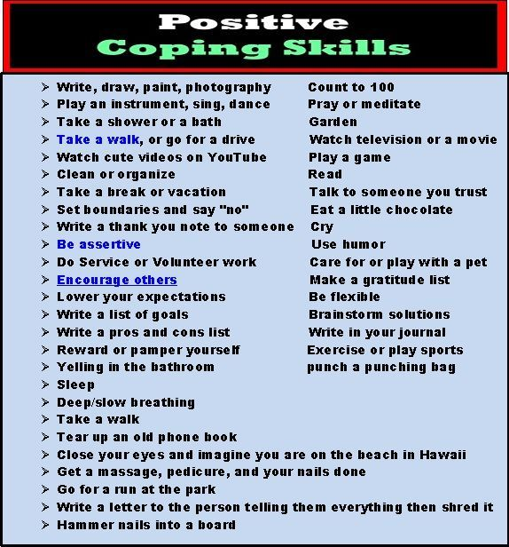 Coping skills worksheets for adults pdf