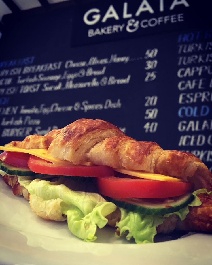 Freshly baked Croissant Sandwich X Freshly roasted Coffee = GALATA  #galatabakery #johannesburg #braamfontein #braamies #croissant #croissantsandwich
