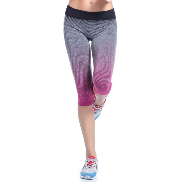 Screaming Retail Price Women's Fitness YOGA Sport Pants Stretch Gym Cropped Leggings Athletic Trousers