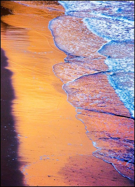 Newquay - gorgeous sunset reflection on water #waves #ocean #water