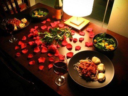 Подарок любимому - Романтичный ужин при свечах