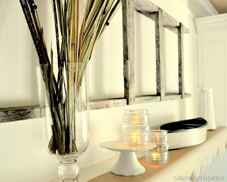 the best mantle decor for summer | Summer Mantle (mantel decorating) 2012 - Cleverly Inspired