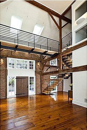Love post and beam construction...Tulane Barn house Princeton NJ 7