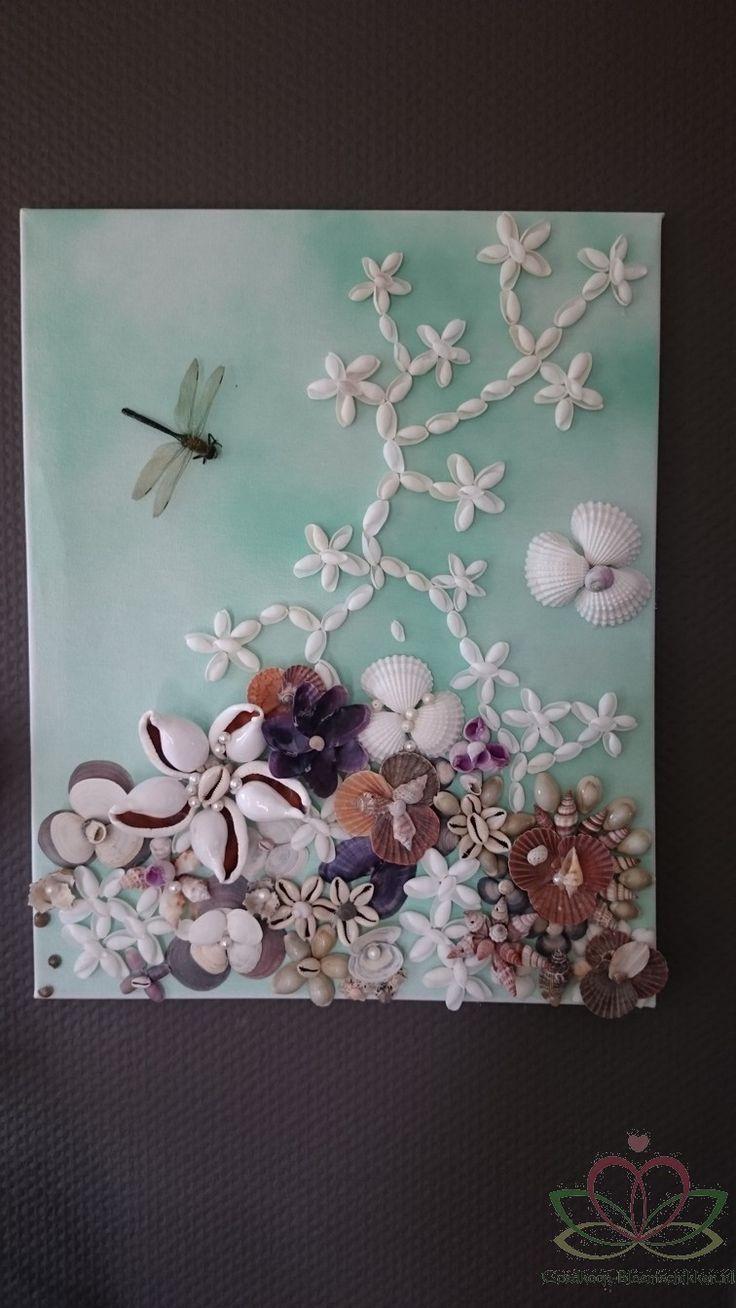 Schelpenschilderij zelf maken. diy seashell
