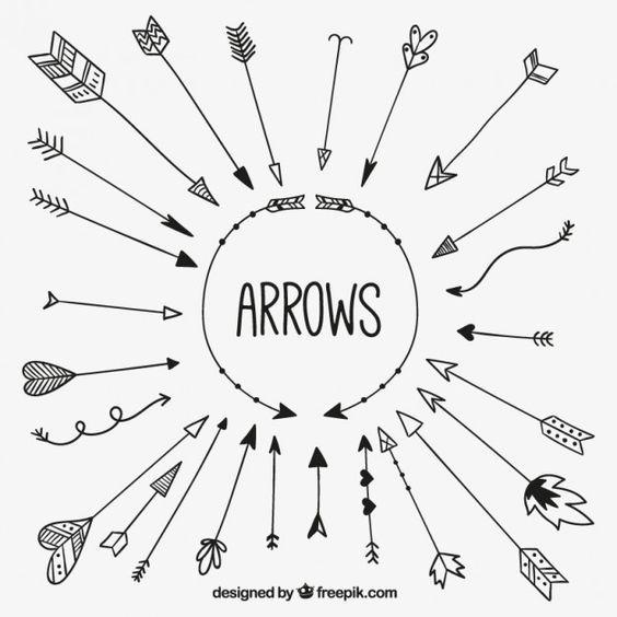 #OUTILS - Flèches, motifs ethniques
