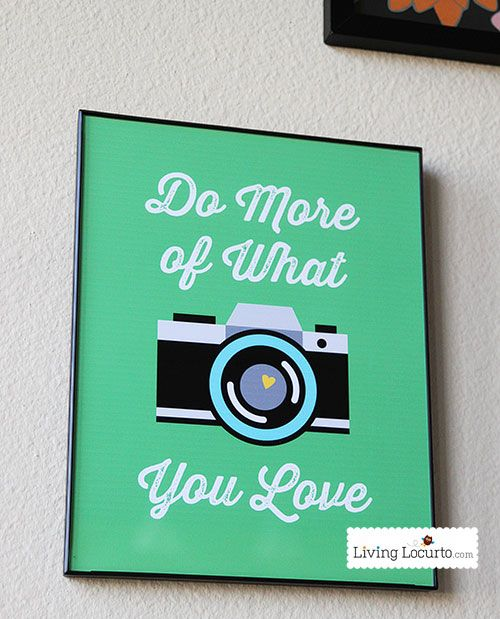 Love this! Camera & Photography Quote Printable Wall Art from LivingLocurto.com