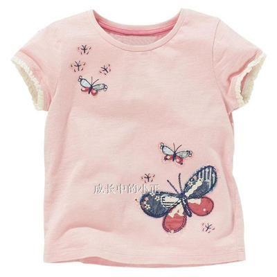爆款外贸品牌童装夏季 儿童女宝宝短袖体恤纯棉短袖T恤女童夏5941-淘宝网
