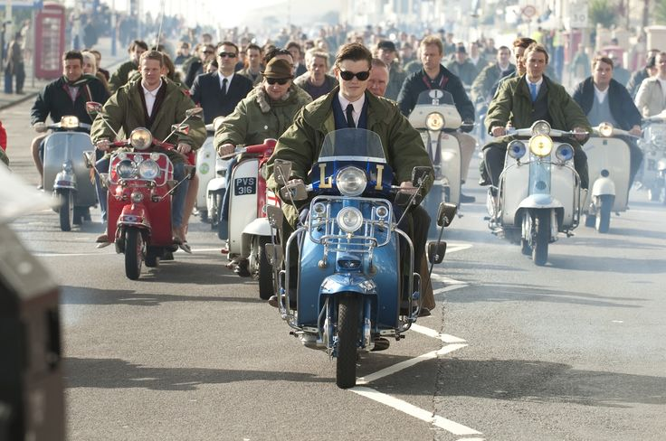 Brighton still rocks – Sam Riley leads the pack of scooters in the 2010 version of Brighton Rock. Description from nativemonster.com. I searched for this on bing.com/images