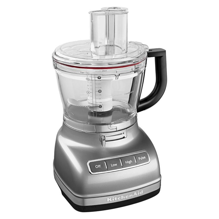 KitchenAid 14 Cup Food Processor with ExactSlice System and Dicing Kit KFP1466, Contour Silver