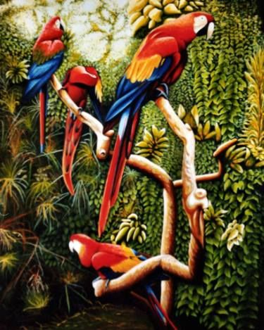 "Saatchi Art Artist Dan Civa; Painting, ""Parrots, Colombo Zoo, Sri Lanka"" #art"