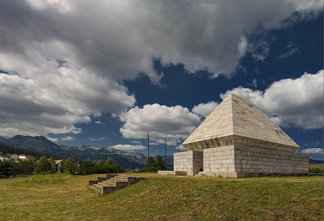 (The Monument for the Victims of Fascism) - on the plates of which the names of 14 752 humans killed or dead during fascism in Montenegro during WW II as victims of the fascist terror, in the battle for liberty and against fascism, are engraved.