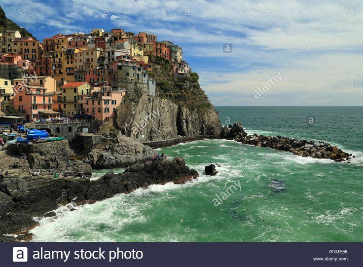Manarola, Cinque Terre, Liguria, Italy Stock Photo, Royalty Free Image…