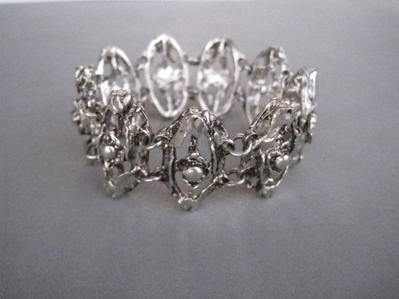 Beautiful modernist pewter bracelet by Tapani Vanhatalo by vetval, $65.00