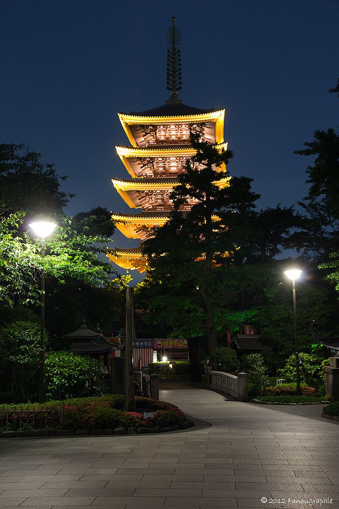 Pagoda, Asakusa, Tokyo, Japan
