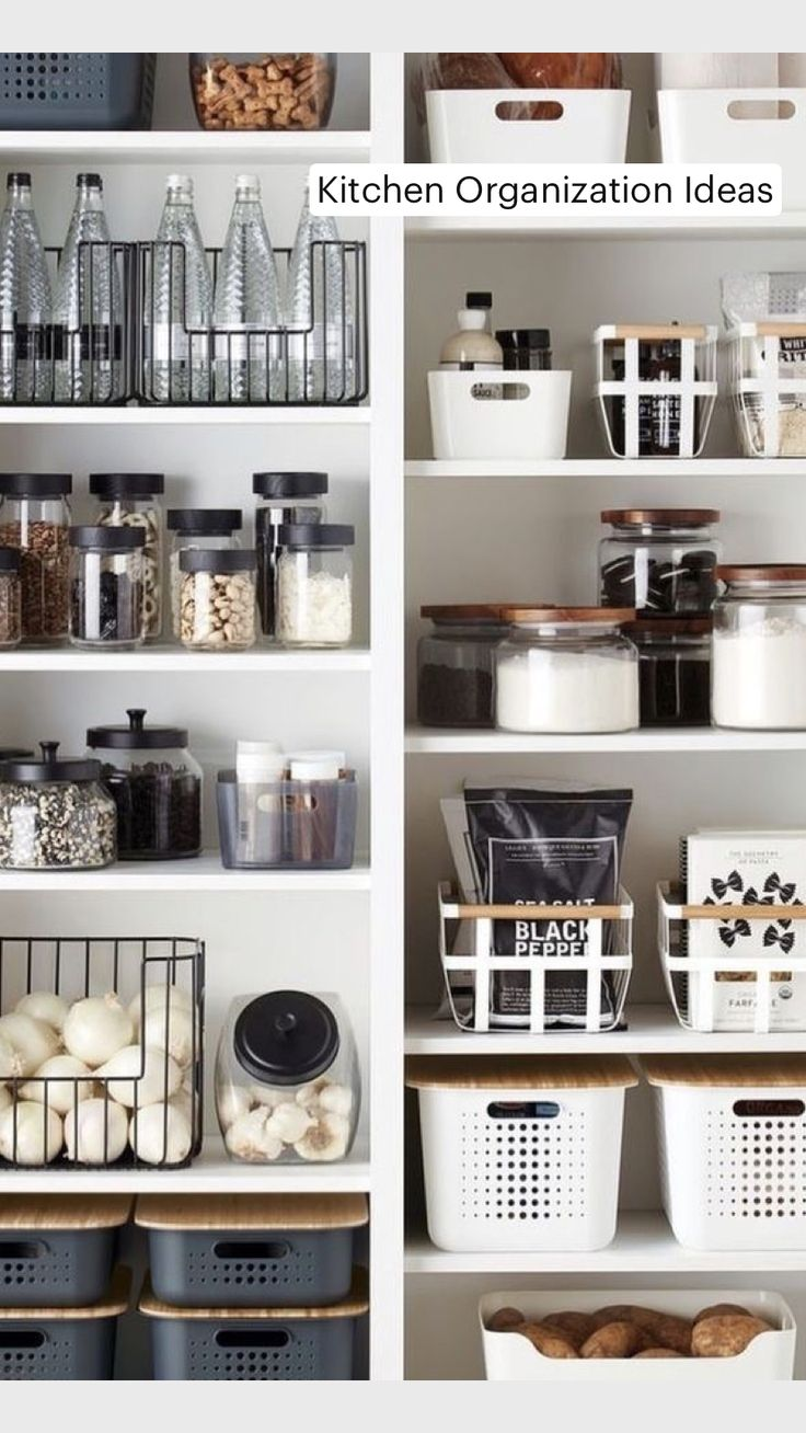 Kitchen Pantry Design, Kitchen Organization Pantry, Home Organisation, Diy Kitchen Storage, New Kitchen, Organized Kitchen, Kitchen Hacks, House Organization Ideas, Organized Home
