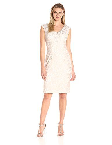Share this article on your favorite social media and get it for free!   Our all-over lace, sleeveless, short shift dress features a beautiful embroidered neckline. This dress is a great choice for a mother of the bride, guest of wedding or for any special evening event.All-over lace cocktail dress with embroidered necklineCenter back zipperEmbellishments at the neckKnee-lengthJoanna Chen design  Things you need to buy Haydai.com  The post Alex Evenings Women's Short