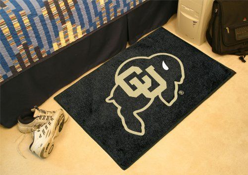 """Colorado Starter Rug 20""""x30"""" by Fanmats. $13.68. Colorado Starter Rug 20""""x30""""Decorate your home or office with area rugs by FANMATS. Made in U.S.A. 100% nylon carpet and non-skid recycled vinyl backing. Officially licensed and chromojet printed in true team colors. Please note: These products are custom made. The normal lead time is about 7-10 business days. However, the putting mats and carpet tiles do take a little longer, about 14-21 business days.***This item i..."""