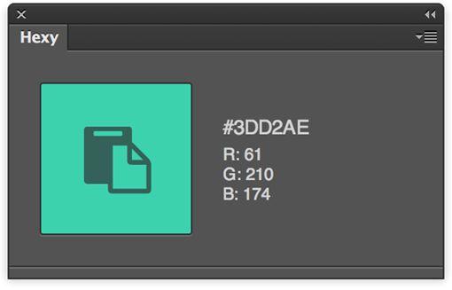 Hexy Photoshop Plugin Con este plugin cuando seleccionas un color con el cuentagotas se copia directamente al portapapeles su código hexadecimal. Unos segundos que ahorras y ganas en productividad.
