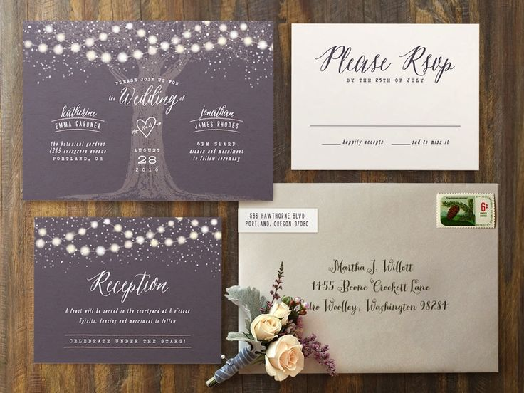 garden lights wedding invitations romantic and rustic invite for an illuminated outdoor evening - Outdoor Wedding Invitations