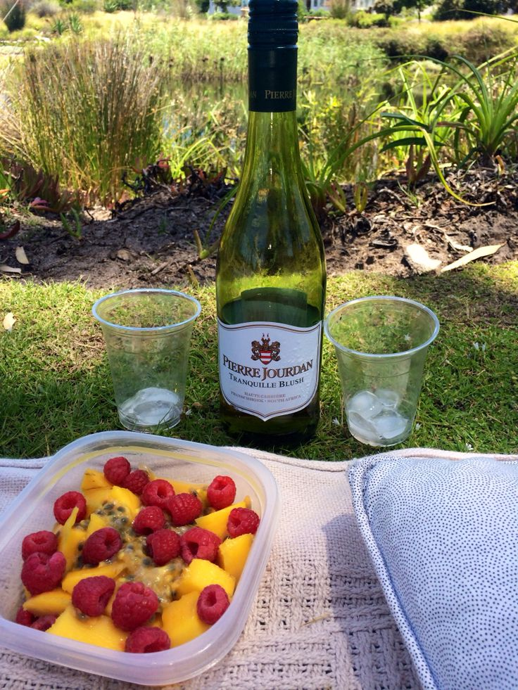 Sweet Mango, raspberries and passionfruit salad - perfect for a picnic.