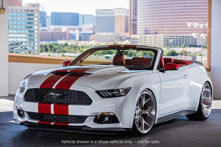 2016 Ford Mustang convertible SEMA 2015 www.asautoparts.com