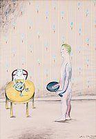 """MARIE-LOUISE EKMAN, """"En man som lagar mat"""" (""""En hund som äter""""). EST: 80 000 - 100 000 SEK. Bukowskis. Barnebys.se"""