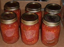 Extension Service - Canning tomato products. Times and pressure guide. This is the ketchup recipe we used 2014