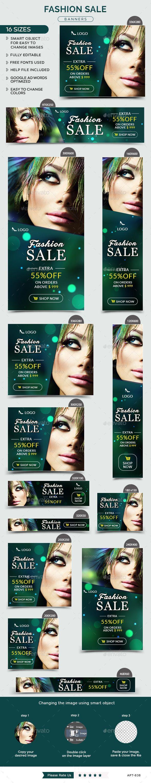 Fashion Sale Banners Template #design Download: http://graphicriver.net/item/fashion-sale-banners/12425038?ref=ksioks