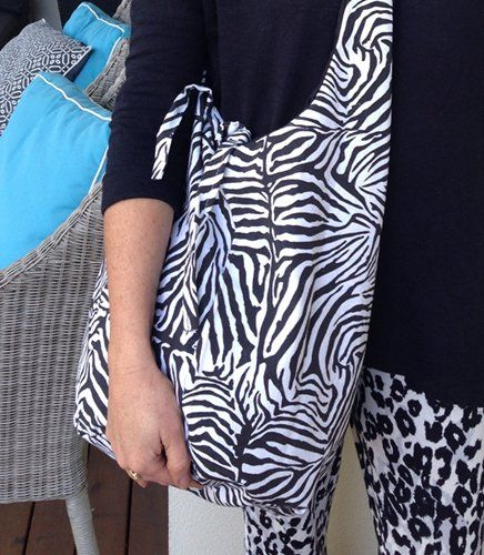 Zalika - Zebra Print Bag | Indigo Heart - Fair Trade Fashion A$36.95