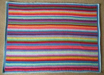 Haakpatroon Granny Stripe Deken, lees meer over dit haakpatroon op Haakinformatie