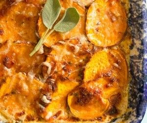 Scalloped Sweet Potatoes. This dish falls in to the paleo comfort food group
