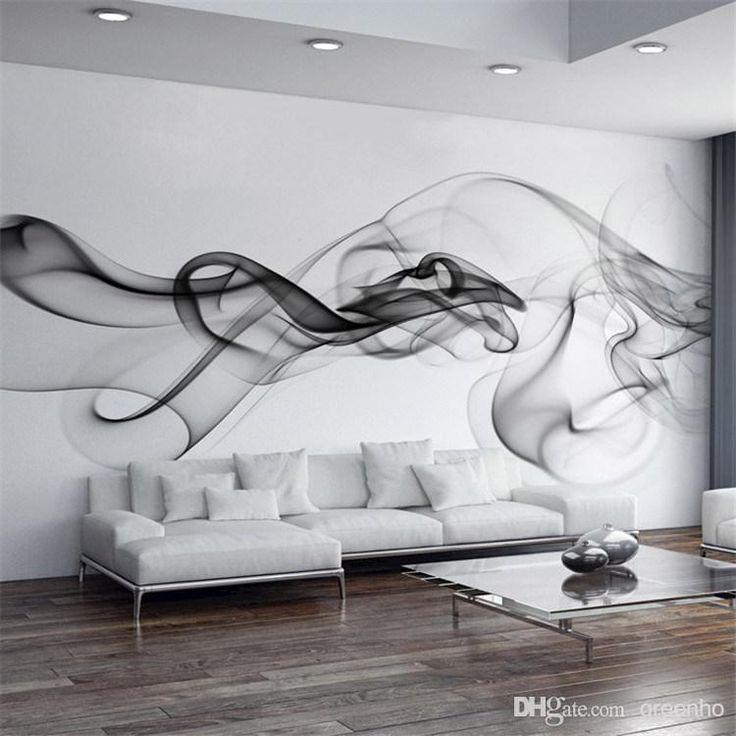 Smoke Fog Photo Wallpaper Modern Wall Mural 3D view wallpaper Designer Art Black & White Murals Room decor Kids Bedroom Office Living room