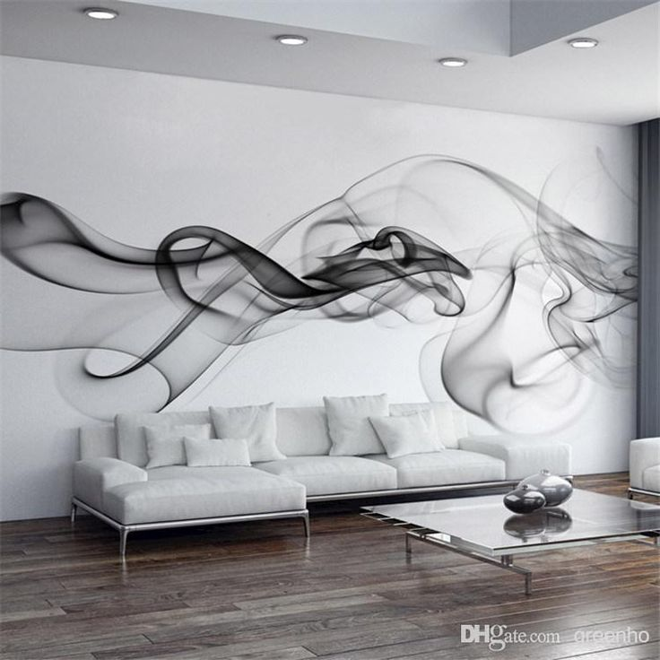 Smoke Fog Photo Wallpaper Modern Wall Mural 3D view wallpaper Designer Art Black & White Murals Room decor Kids Bedroom Office Living room