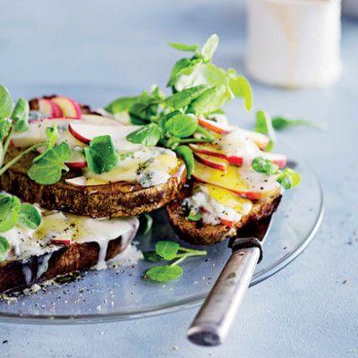 Taste Mag | Gorgonzola-and-honey apple toast @ http://taste.co.za/recipes/gorgonzola-and-honey-apple-toast/