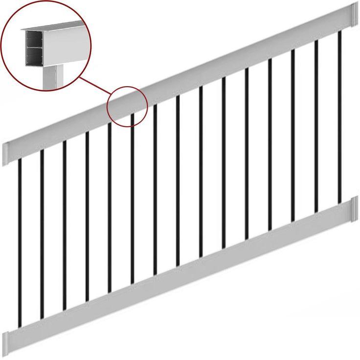 Best Deck Railing Finyl Line™ T Top Vinyl White Square Vinyl Railing Aluminum Balusters Steel Pergola 640 x 480