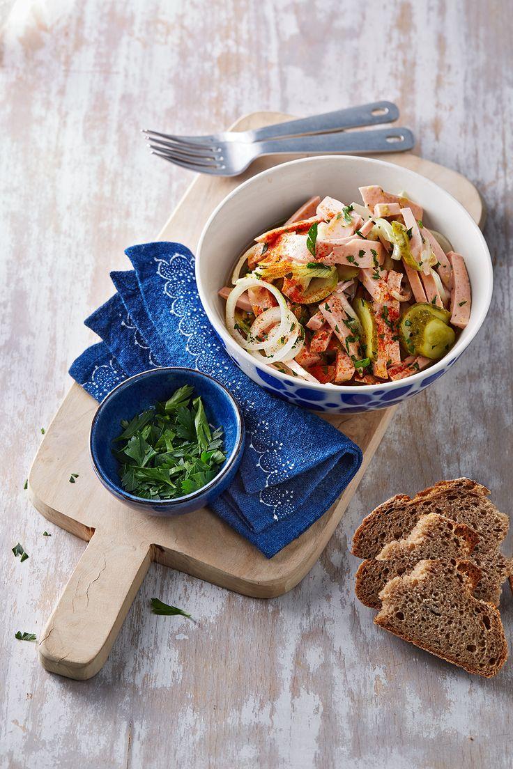 Zwiebel-Wurstsalat