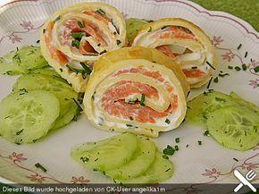 Pfannkuchen vom Blech mit Räucherlachs, ein sehr schönes Rezept aus der Kategorie Snacks und kleine Gerichte. Bewertungen: 61. Durchschnitt: Ø 4,4.