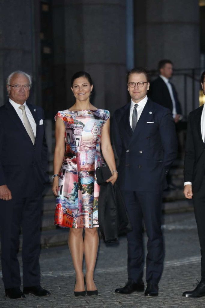 12 September 2017 - The Swedish Royal Family attend Riksdag Concert in connection with the opening session of the Swedish parliament - dress by MaxJenny