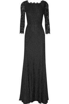 Oh this old thing?  Diane von Furstenberg Zarita lace gown | NET-A-PORTER