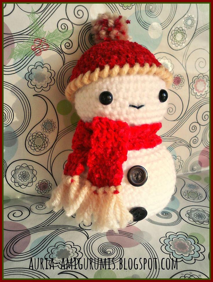 Dorable Crochet Patrón De Sombrero De Muñeco De Nieve Molde - Manta ...