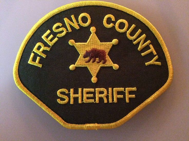Patch Police Fresno County Sheriff's Office Shoulder Flash New Original Rarity