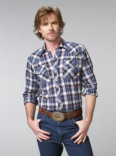 Sam Trammell (Sam Merlotte of True Blood). Still my favorite pic. This one is signed and on my wall... :)