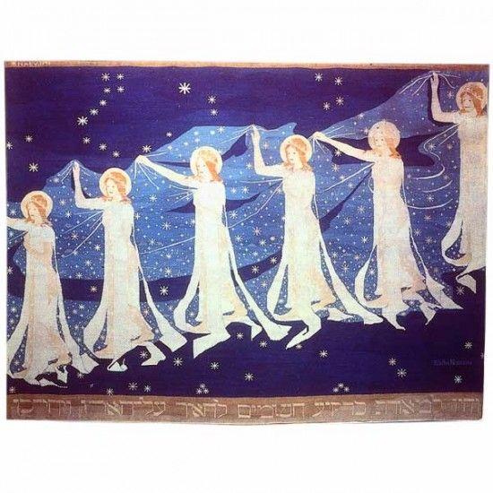 Frida Hansen, Melkeveien (Milky Way) (1898). Tapestry.